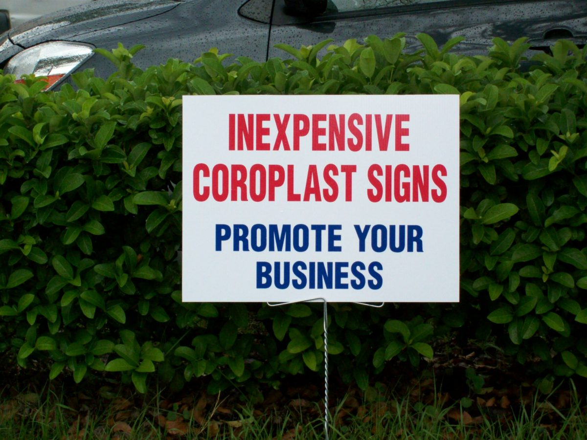 Coroplast Signs